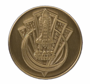 Commemorative Space Shuttle Program Bronze Coin