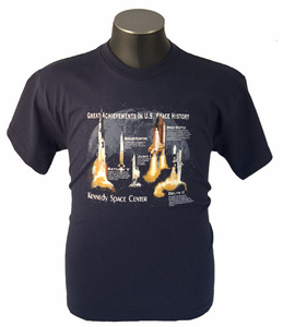 Kids T-Shirt Great Achievements In U.S. Space History Navy