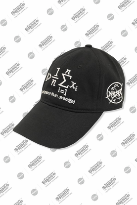 Greater Than Average Hat - Black
