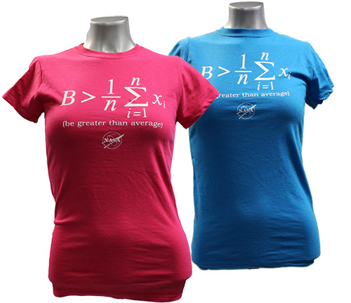Junior T Shirt Be Greater Than Average Raspberry Or Turquoise