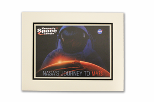 Journey to Mars Astronaut Matted Poster