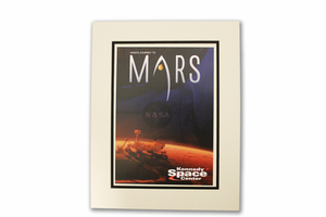Journey to Mars Horizons Matted Poster