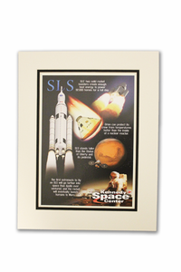 Journey to Mars SLS Matted Poster