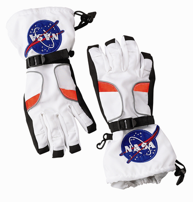 Kids Astronaut Space Gloves Choice of White or Black