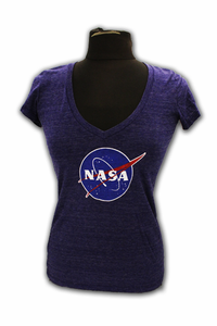 Junior T-Shirt NASA Meatball V-Neck Sapphire