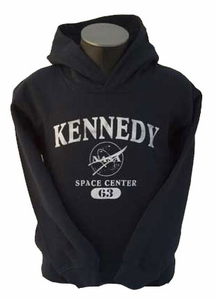 Kids Hooded Sweatshirt Kennedy Space Center Navy
