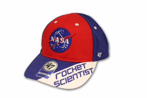 Kids Hat Rocket Scientist Red White Blue
