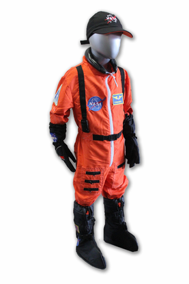 Kids Astronaut Flight Suit Orange