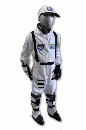 Kids Astronaut Flight Suit White