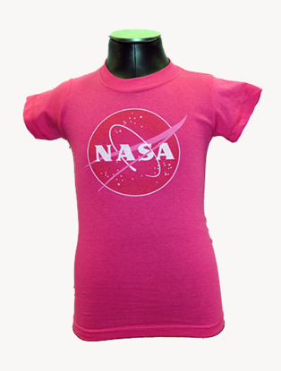Kids T-Shirt Official NASA Meatball Logo Pink