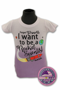 Kids T-Shirt Forget Princess Plum Fade