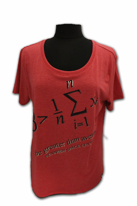 Ladies T-Shirt Greater Than Average Red