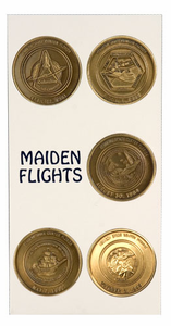Maiden Space Shuttle Flights Bronze Coin Set