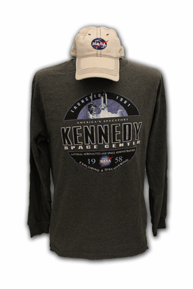 Mens Hat and Long Sleeve Combo Gray