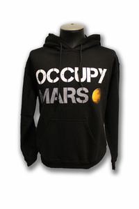 Mens Hooded Sweatshirt SPACE-X Occupy Mars Black
