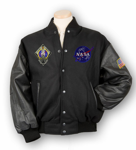 Mens Jacket Varsity Collegiate Black