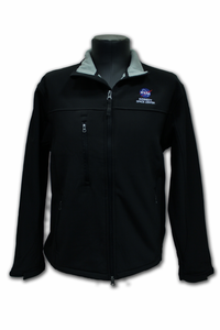 Mens Jacket Official NASA Kennedy Space Center Zip Up Black