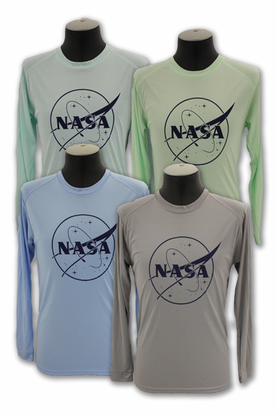 Mens Performance Long Sleeve - NASA Meatball - 4 Color Options