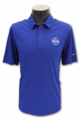 Mens Polo NIKE Dri-Fit NASA Meatball Royal