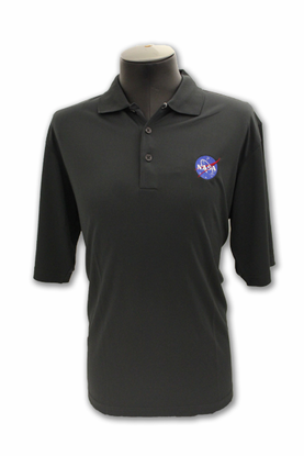 Mens Antigua Polo Official NASA Meatball Smoke