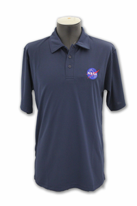 Mens Polo Renew NASA Meatball Logo Navy