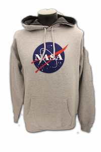 Mens Hooded Sweatshirt NASA Meatball Grey