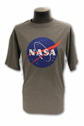 Mens T-Shirt Official NASA Meatball Recycled Material Gray