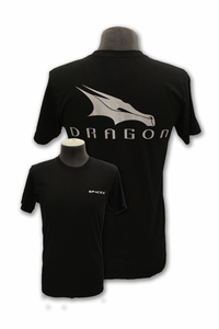 Mens T-Shirt Space-X Dragon Black