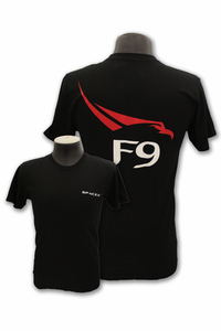 Mens T-Shirt Space-X F9 Black