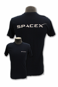 Mens T-Shirt Space-X Logo Navy