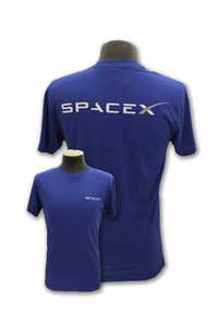 Mens T-Shirt Space-X Logo Royal