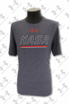 Mens T-Shirt Under Armour NASA Horizontal Navy