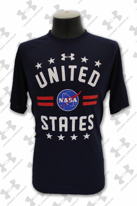 Mens T-Shirt Under Armour NASA United States Navy