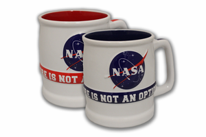 NASA Failure is not an Option Mug Red or Blue