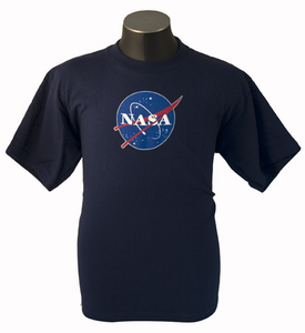 Kids T-Shirt Official NASA Meatball Logo Navy