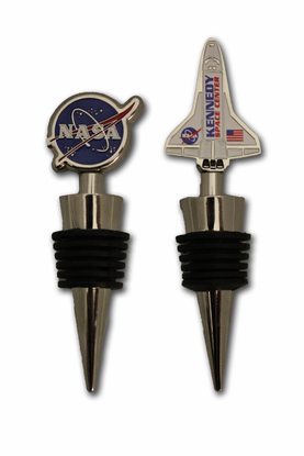 NASA Meatball and Shuttle Wine Stoppers - Two Pack