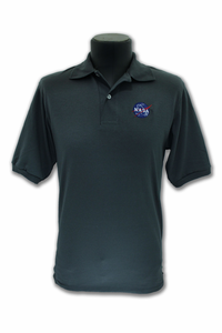 Mens Polo  Official NASA Meatball Charcoal