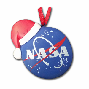 NASA Meatball Santa Hat Ornament
