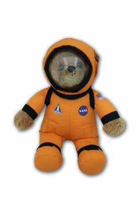 NASA Mission Crew Stuffed Bear Choice of Orange or Pink
