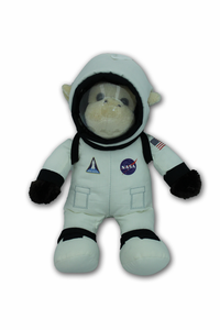 NASA Mission Crew Stuffed Monkey - White