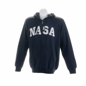 Mens Full Zip Hooded Sweatshirt Navy