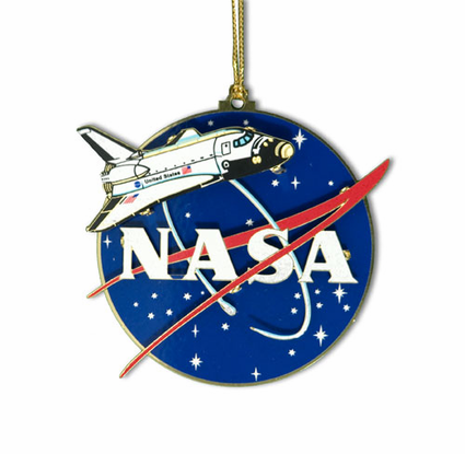 NASA Shuttle Ornament - Holiday Space Ornaments