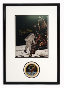 Buzz Aldrin With Lander Autographed Portrait