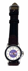 Ladies Official NASA Meatball Watch Brown Leather