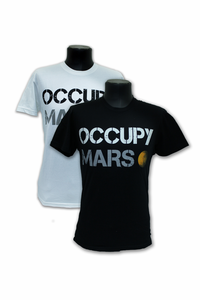 Mens T-Shirt SPACE-X  Occupy Mars Choice of White or Black