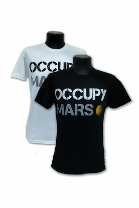 mens t shirt space x occupy mars choice of white or black