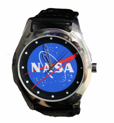 Official NASA Meatball Leather Band Watch