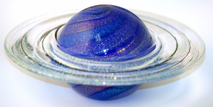 Rings Of Saturn Glass Eye Paperweight