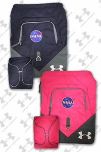 Sack Pack Under Armour NASA Meatball Choice of Pink or Navy