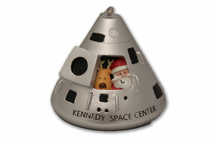 Santa and Rudolph in Lunar Capsule